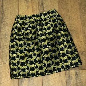Crown and Ivy zebra patterned mini skirt size 2